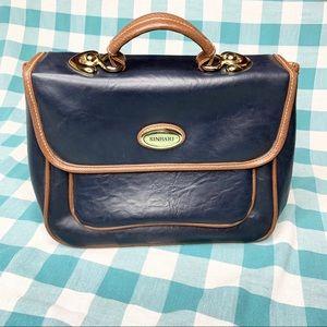 Sinbari Clutch Briefcase Style Blue Satchel Purse